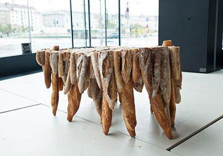 ایده جالب میز بازیافتی از جنس نان باگت