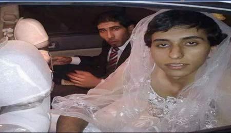 حقه یک داعشی برای فرار با لباس عروس + عکس