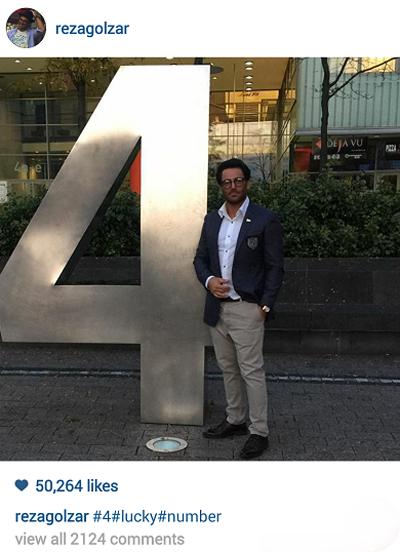 عکس جدید محمد رضا گلزار در آلمان