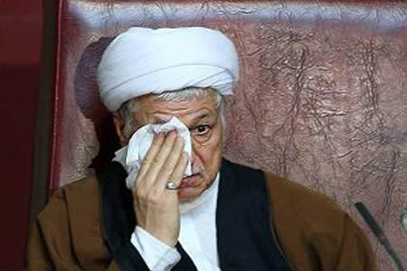 گریه هاشمی رفسنجانی در تشییع قربانیان منا + تصاویر