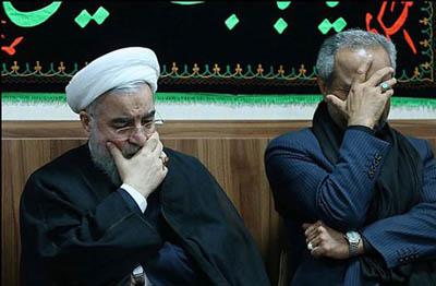 اشک های سوزناک حسن روحانی + عکس
