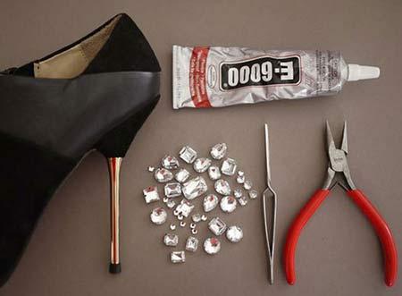 آموزش تصویری جدیدترین روش تزئین کفش
