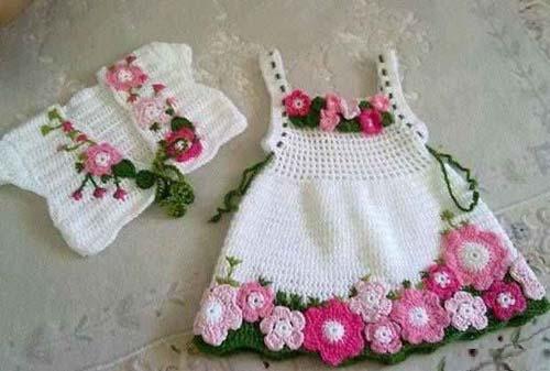 ست های لباس و کلاه بافتنی زیبای دخترانه !+ عکس