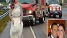 عروسی که با لباس عروسی امداد گری کرد + تصاویر