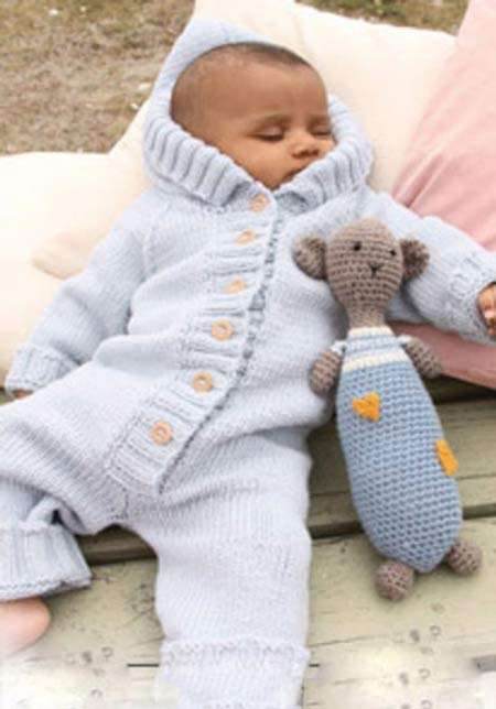 آموزش بافت لباس سرهمی شیک و آسان برای نوزاد