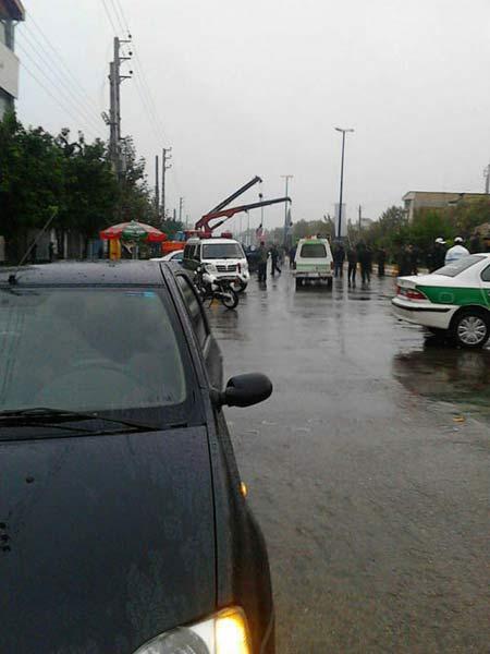 اعدام دو متجاوز جنسی در علی آباد کتول زیر باران