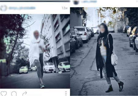 گردش دختران مدل  اینستاگرام در خیابانهای تهران + تصاویر