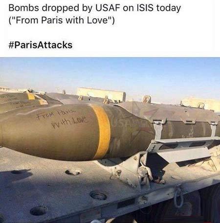 هدیه پاریس به داعش تقدیم با عشق + عکس