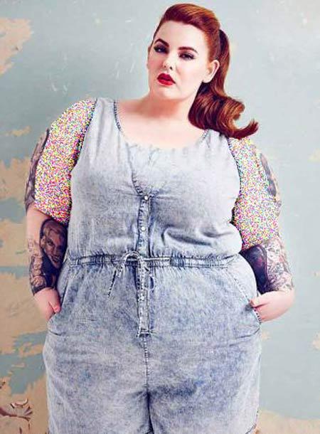 تصاویر زن چاق ولی زیبایی که آرزو دارد مدل شود