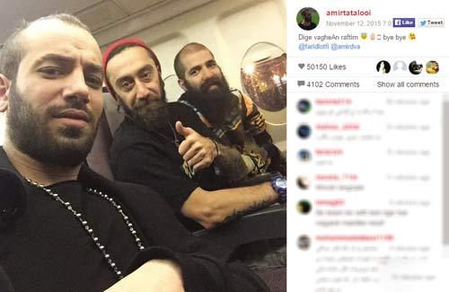 امیر تتلو سوار بر هواپیمای شخصی اش + عکس