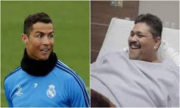 هدیه فوتبالیست مشهور به چاق ترین مرد جهان +عکس