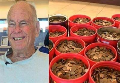 نتیجه یک عمر پس انداز جالب این پیرمرد 81 ساله
