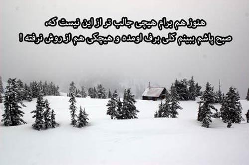 زیباترین عکس نوشته های عاشقانه و احساسی زمستانی