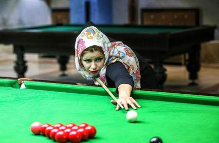 تصاویر دیدنی دختر ایرانی نابغه بیلیارد