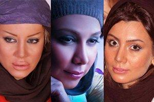 عکس های لو رفته بازیگران زن ایرانی در...