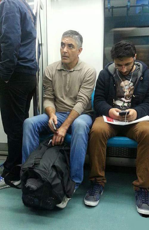 جرج کلونی در متروی تهران + عکس