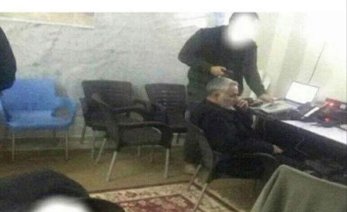 اتاق کار سردار سلیمانی در سوریه   عکس
