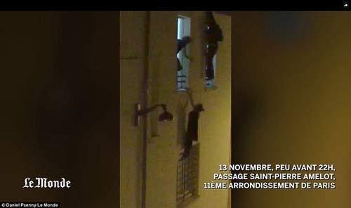 زن باردار فرانسوی از دست داعش از پنجره آویزان شد +عکس