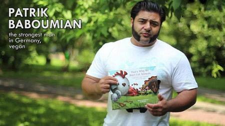 قویترین مرد آلمان یک گیاهخوار آبادانی + عکس و مصاحبه
