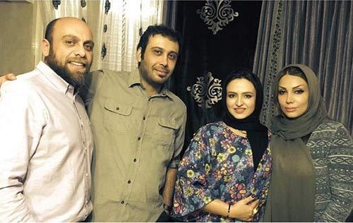 گلاره عباسی و شوهرش در جشن تولد پسر چاووشی + عکس