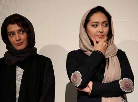 بوسه غافلگیرانه دو بازیگر به صورت نیکی کریمی + عکس
