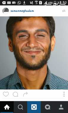 گریم جالب محمود احمدی نژاد در حضور رضا عطاران