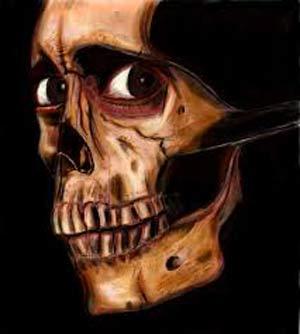 مرحوم استخوان جمجمه در غسالخانه  عکس