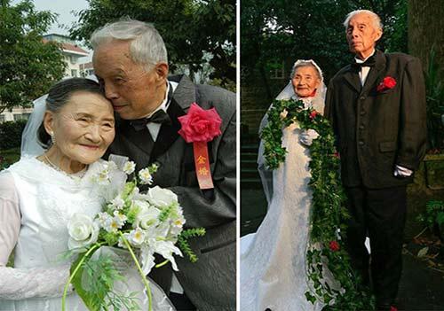 جشن سالگرد ازدواج زن و شوهر 98 ساله + عکس