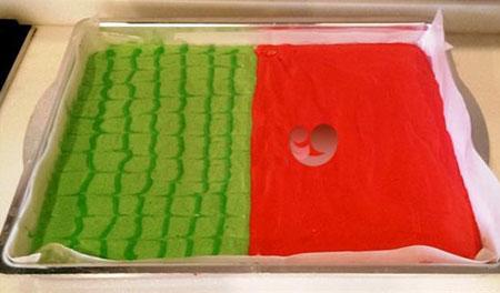 دسر مجلسی شیک رولت هندوانه برای شب یلدا