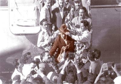 نوه غلامرضا تختی و همسر خارجی اش را ببینید