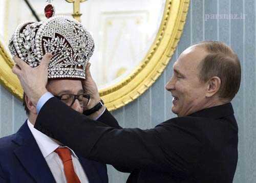 تاجگذاری در روسیه بدست ولادیمیر پوتین + عکس