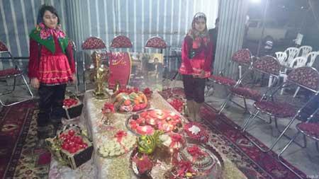 مراسم شب یلدای ویژه سر مزار هادی نوروزی