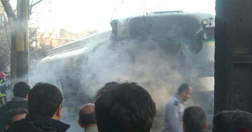 5 کیلومتر از شهر ارومیه در آتش سوخت +عکس