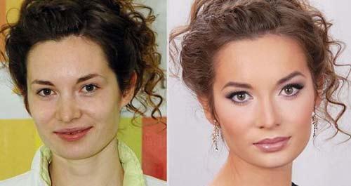 عکسهای لو رفته از قبل و بعد آرایش مدل های زن مشهور