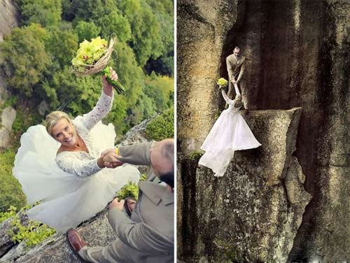 وحشتناک ترین و جالبترین عکسهای عروسی