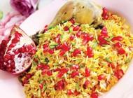 طرز تهیه انار پلو با مرغ غذای خوشمزه شب یلدا