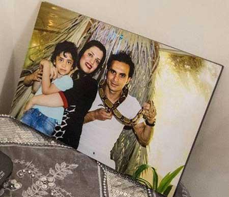 عکس دیده نشده آخرین شب یلدای هادی نوروزی و همسرش