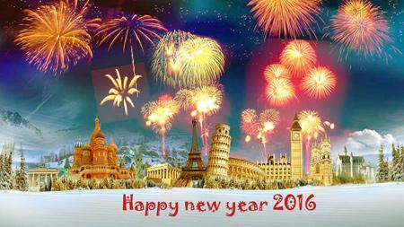 کارت پستال جدید آغاز سال نو میلادی 2016
