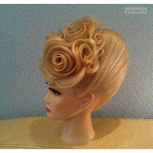 جدیدترین مدلهای بسیار زیبای شنیون موی عروس ۲۰۱۶