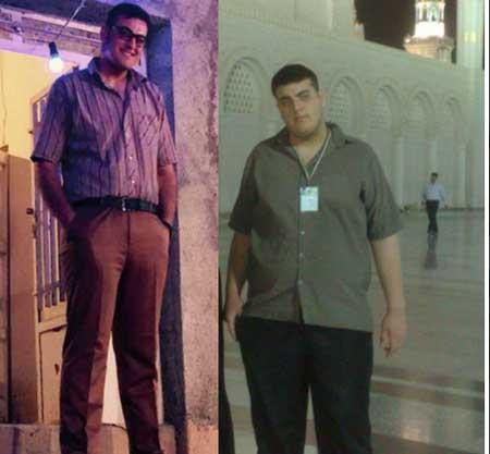 هفتاد کيلو کاهش وزن پسر همدانی در هفت ماه +عکس
