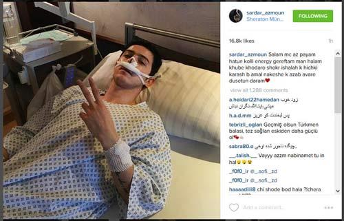 تازه ترین عکس از سردار آزمون بعد از عمل بینی