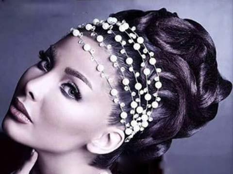 جدیدترین و شیک ترین مدلهای شینیون و تاج عروس ایرانی