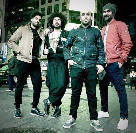 تیپ گروه بروبکس و هومن گامنو در نیویورک +عکس