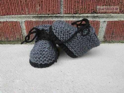 زیباترین مدلهای کفش بافتنی بچگانه مدل2016