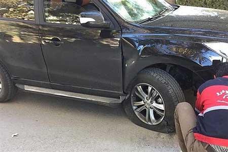 جنجال حادثه در تست فنی برای ماشین چینی ایران خودرو +عکس