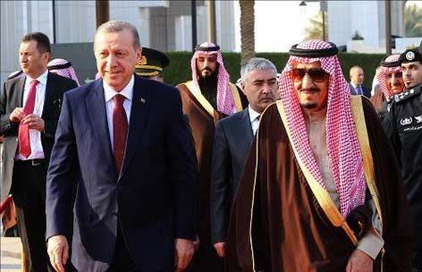 درهای کعبه به روی اردوغان توسط ملک سلمان  باز شد+ عکس