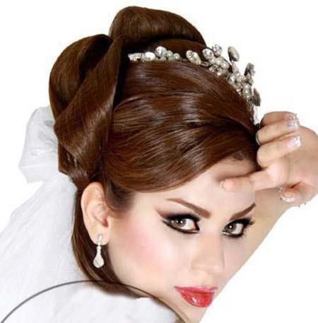 20مدل از شیک ترین وجدیدترین و زیباترین مدل شینیون با تور عروس