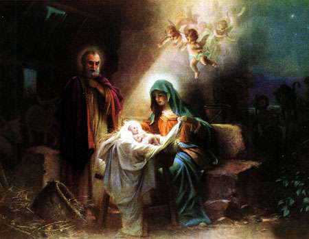 کارت پستال زیبای میلاد عیسی مسیح