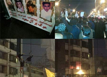 جزئیات آتش زدن سفارت عربستان و غارت اموال آن +عکس