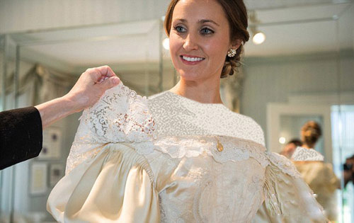 لباس عروس زیبا 11 نسل را به خانه بخت فرستاد +عکس